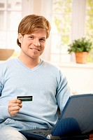 Man paying online