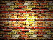cracked vintage brick wall