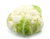 Healthy cauliflower over white