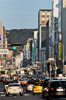 Kyoto (Japan): urban traffic in the city centre