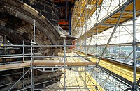 Scaffold _ Restoration of a Building _ Frauenkirche _ Dresden _ Saxony _ Germany