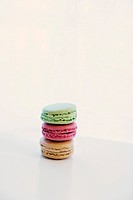 Stack of colorful macarons