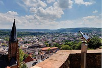 Europe, Germany, Hesse, View of st.marienkirche church from marburg castle