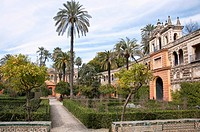 Spain, Andalusia, Province Sevilla, Sevilla, View of Alcazar palace