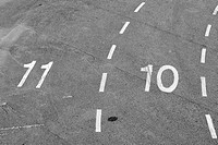 numbered lanes on tarmac
