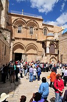 Israel, Jerusalem, Old City, Exterior of the church of the Holy Sepulchre, The main entrance