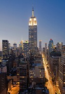 Empire State Building, Midtown skyline, Manhattan, New York City, New York USA