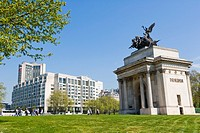 Wellington Arch, Constitution or Green Park Arch, triumphal arch, Hyde Park Corner, Central London, England, UK