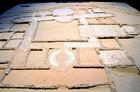 Building C: The Mother House is a model of the house of a Roman villa, excavated the entire Noble, notable for its collection of mosaics, one of the b...