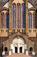 France, Maine et Loire, Cholet, church of Notre-Dame du Sacré Coeur