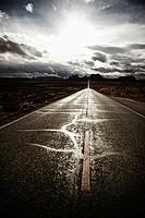 Road South through Monument Valley, Utah, USA