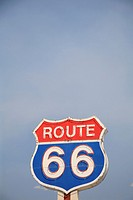 Route 66 Sign, Route 66, Near Albuquerque, New Mexico, USA
