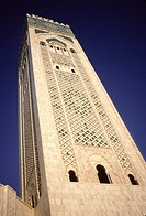 Casablanca, Morocco  Minaret of the Hassan II Mosque