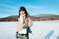 Girl with ice skates, portrait
