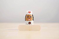 a finger doll of nurse