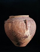 Egyptian civilization, Predynastic Period, 4th millenium b.C. Naqada civilization. Decorated vase, Gerzeen period.  Cairo, Egyptian Museum
