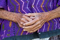 Close up of Mayan womans hands