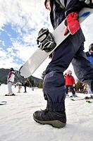 Snowboarder. La Molina ski resort, Cerdanya, Girona province, Catalonia, Spain