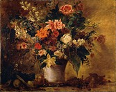 Austria, Vienna, Flowers and Fruit, oil on canvas