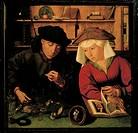 Quentin Matsys (1466-1530), The Moneychanger, 1514.  Paris, Musée Du Louvre