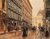 Austria - Vienna - 20th century. A Corner of the Volkmarkt. Watercolor.  Vienna, Historisches Museum Der Stadt Wien (History Museum)