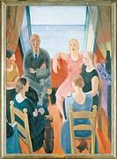 Felice Casorati (1886-1963), The Stranger, 1930.  Florence, Palazzo Pitti (Pitti Palace) Galleria D'Arte Moderna (Gallery Of Modern Art)