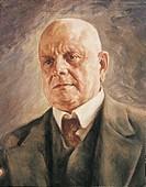 Teodor Schalin (1882-1960), Portrait of Jean Christian Julius Sibelius (Hameenlinna, 1865 - Jarvenpaa, 1957), Finnish composer, 1952.  Turku, Sibelius...