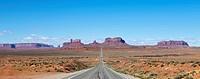 Road Passing Through a Barren Desert Landscape