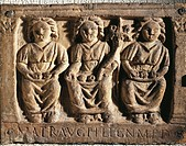 GALLO ROMAN ART SURVEY THREE DEE MOTHERS WITH FRUITS FROM THE KNEE DOCTOR PHLEGON DEDICATED TO WOMEN AUGUSTE  Lyon, Musée De La Civilisation Gallo-Rom...