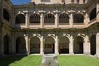Hospedería de Anaya, Anaya Lodge, cloister, Salamanca, Castilla y León, Spain