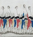 France, XVIII CENTURY. FRENCH REVOLUTION. COSI 'They punish the traitors, PRINTING  Paris, Hôtel Carnavalet (Art Museum)