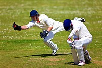 A Batsman edges a catch to the wicket keeper
