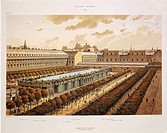 France - 18th century - Paris. Royal Palace in 1794, engraving  Paris, Bibliothèque Des Arts Decoratifs (Library)