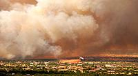 A fire that started on June 17 on Fort Huachuca in Sierra Vista, Arizona, USA, is the second to burn in the area  Crews continued to battle the Monume...