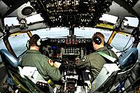 Maj  Dan Bradford and Capt  Philippe Melby prepare for takeoff on a KC-135 Stratotanker Jan  6, 2011, at Fairchild Air Force Base, Wash  Soon, Fairchi...