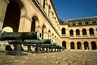 Paris  France  Canons on display at Les Invalides, former military hospital now houses the Musee de l'Armee  7th Arondissement