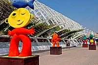 Sculptures, Umbracle, City of Arts and Sciences, Valencia, Spain