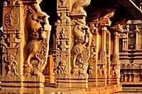 India, Karnataka, Hampi, on the World heritage list of UNESCO, former capital of Vijayanagara kingdom, Sule bazaar, temple of Achyutaraya