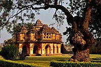 India, Karnataka, Hampi, on the World heritage list of UNESCO, former capital of Vijayanagara kingdom, Lotus Mahal or Lotus palace