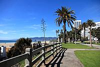 Palisades Park, Malibu Mountains In Background, Santa Monica, Los Angeles, California, USA