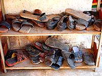 Shoes at the entrance´s mosque, Islamic Quarter, Cairo, Egypt
