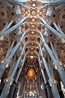 Sagrada Familia, Architect Antoni Gaudi, Barcelona, Spain