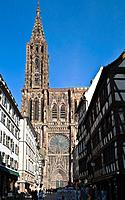 'Notre-Dame' gothic cathedral 14th century, Strasbourg, Alsace, France