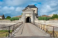Saint Martin fortification, Designed and constructed by Vauban, Door of the Campani, Ile de Re, Charentes Maritime department, France, Europe, Unesco ...