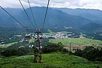 Aerial cableway in Tsugaike plateau