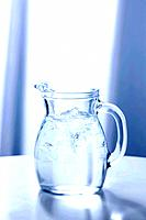 Glass jug of water
