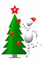 Man decorate christmas fur_tree