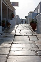 Alley way in Santorini, Oia, Cyclades Islands, Cyclades Prefecture, Greece, Europe