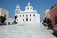 Oia Square Church Santorini, Cyclades Islands, Cyclades Prefecture, Greece, Europe