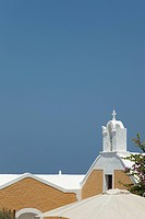 view of church of Oia in Santorini, Cyclades Islands, Cyclades Prefecture, Greece, Europe